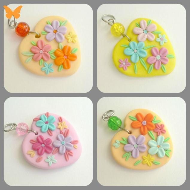 полимерная глина, цветы, украшения из пластики, пластика