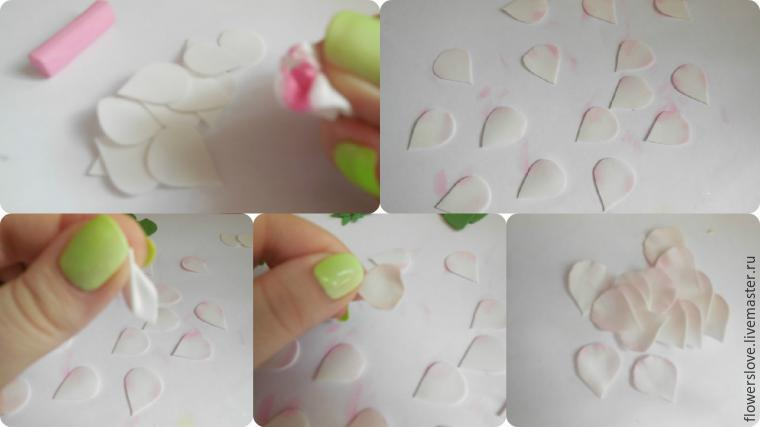 Цветок яблони из фоамирана мастер класс