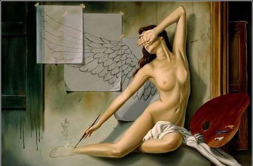 рисованные голые женщины фото