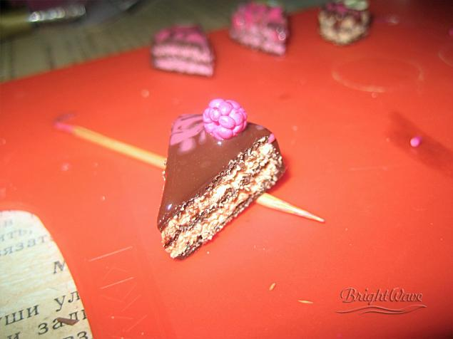 мк полимерная глина, научиться лепить тортики