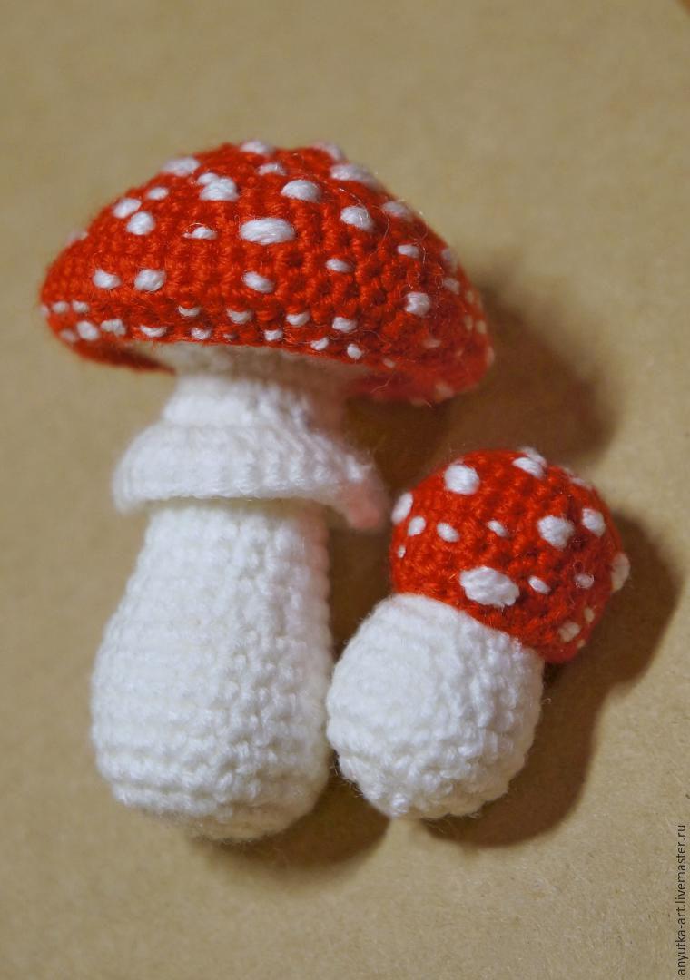грибы вязаные