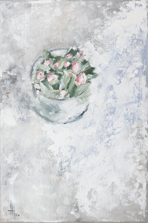 картина каждый день, цветы, тюльпаны