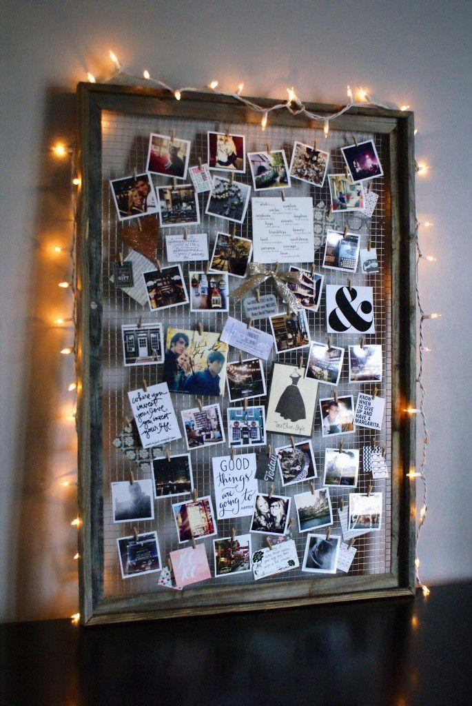 Как сделать рамку с фото на прищепках