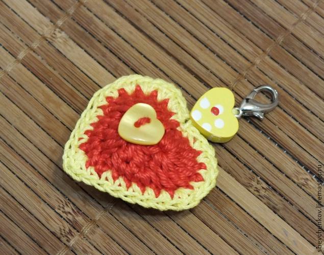 МК Вяжем сердечко - брелок (много фото), фото № 33
