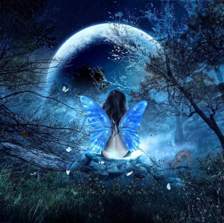 луна, луна спутник, женщина