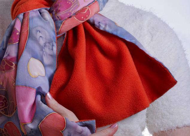 вязаный шарф, синий шарф, подарок своими руками, новинка