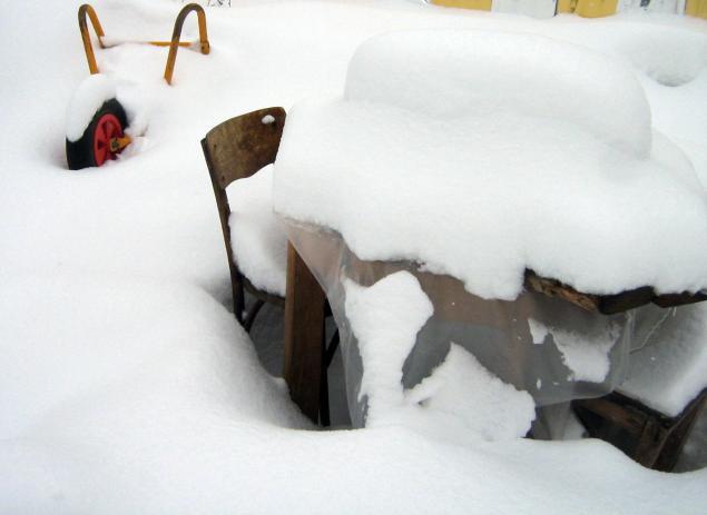 ззима, снег