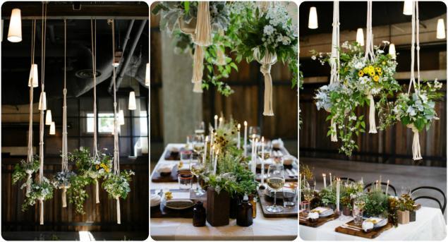 свадьба, кашпо, украшения свадьбы