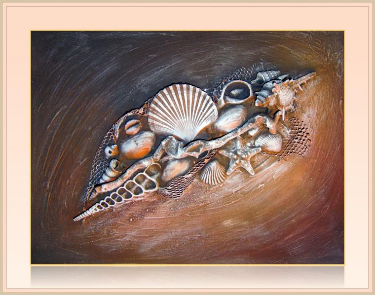 картина для интерьера, морская тема, розы