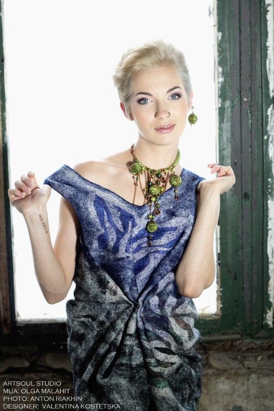 валентина костецкая, украшения из шерсти