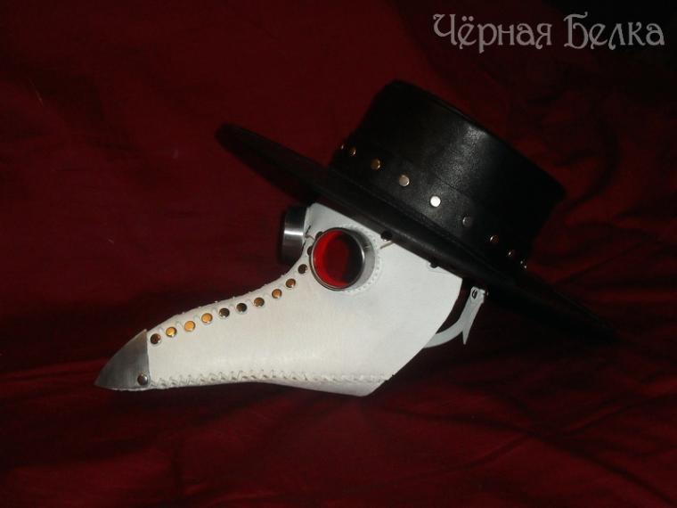 шляпа чумного доктора, кожаная шляпа