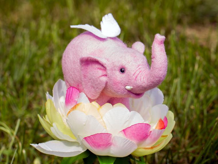 М/к по валянию Хрюшки, Розового Слона, Ёжика или Хомячка, фото № 9