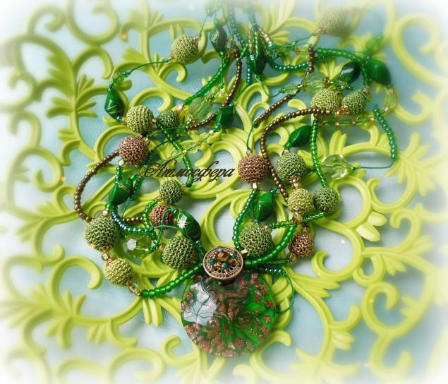 загадка, лесная тема, зеленое, авторское украшение, коллекция, одуванчики, наталья мальцева, атмосфера творчества, атмосфера, лесное