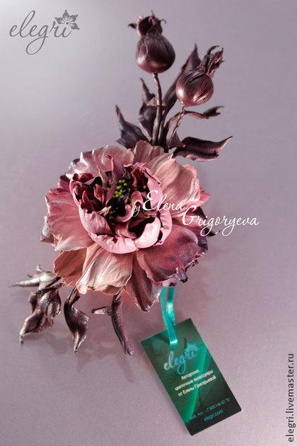 мастер-классы цветы, елена григорьева цветы, ирис из кожи
