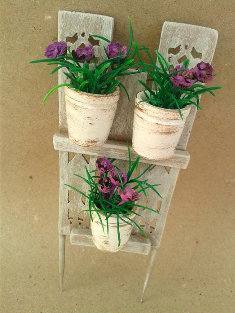 Мастерим декоративный забор с цветочными горшками для мини-садика, фото № 42