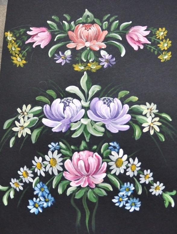 кантри, часы, мастер-класс, ручная роспись, цветы, стилизованная роспись
