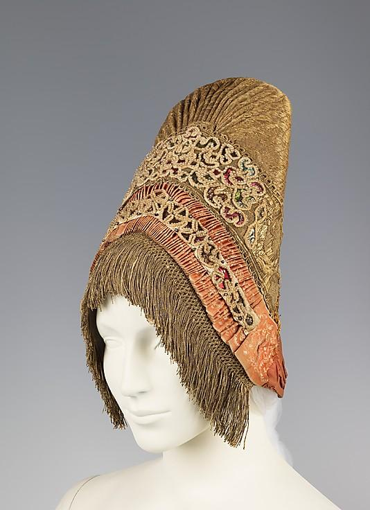 Brooklyn Museum Costume Collection at the Metropolitan Museum of Art.  Коллекция русских народных головных уборов...