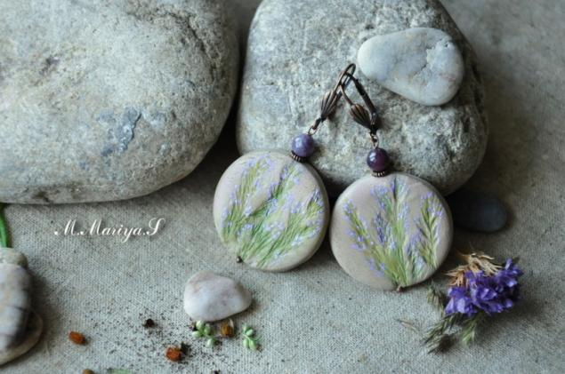 облачко, фетр, натуральные камни