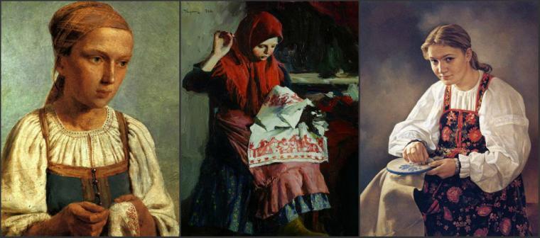 Историю вышивки на руси