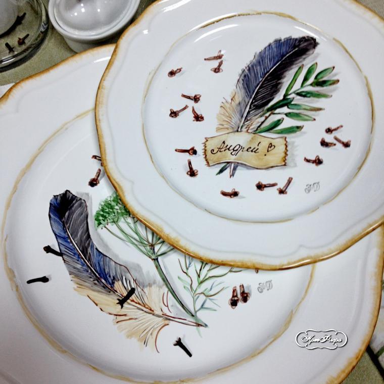 Как расписать тарелку самому