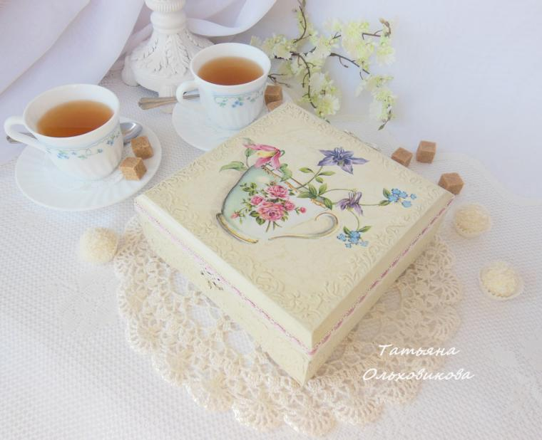шкатулка для чая, татьяна ольховикова