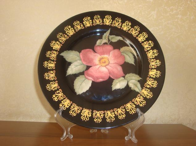 мастер-класс, тарелка декоративная