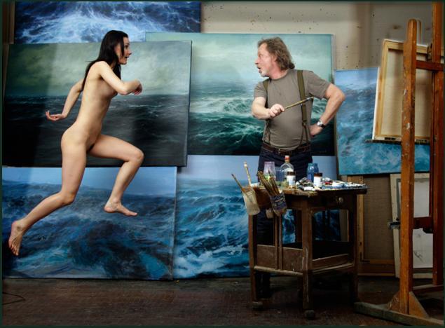 голые натурщики у художников