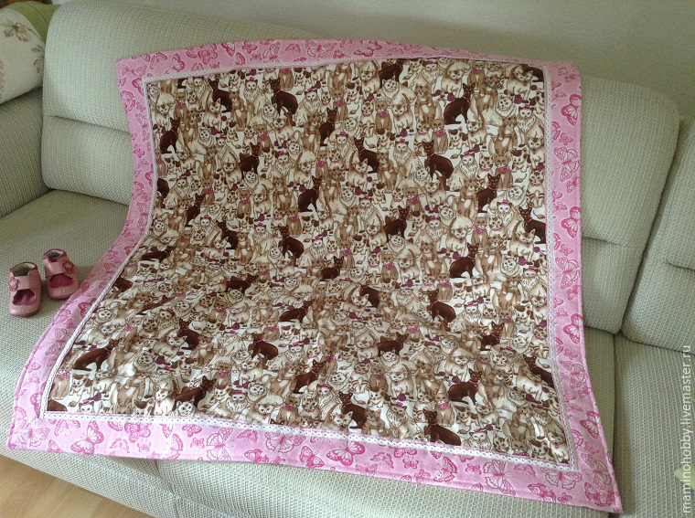 Шьем двустороннее байковое одеялко за 20 минут, фото № 47