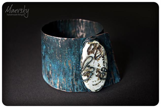 листовая медь, браслет из листовой меди
