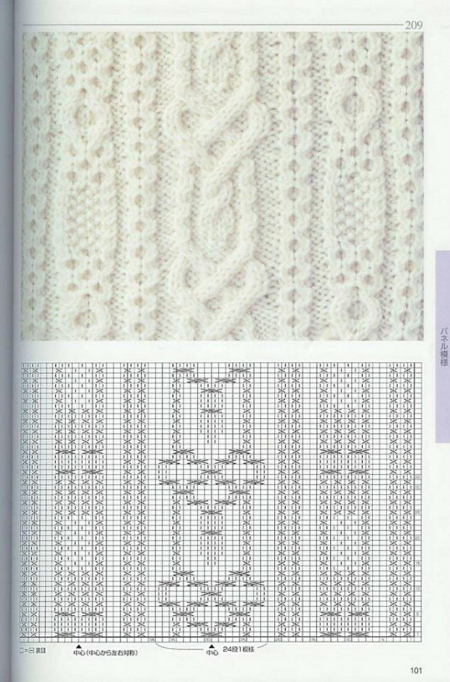 Вязание спицами ирландские узоры со схемами 47
