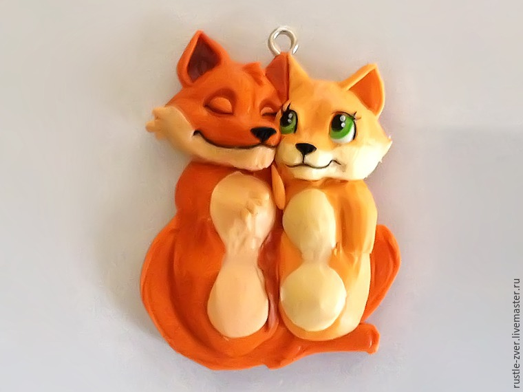 Modeling A Pendant Foxes in Love, фото № 22