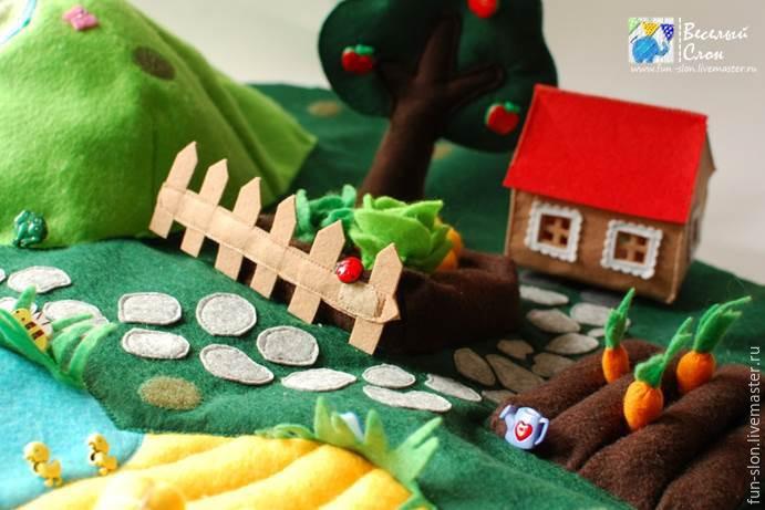 Шьем яркий и реалистичный игровой коврик из фетра, фото № 47