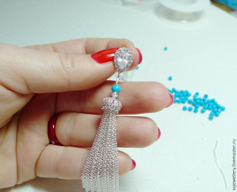 Как сделать серьги-кисти из бисера