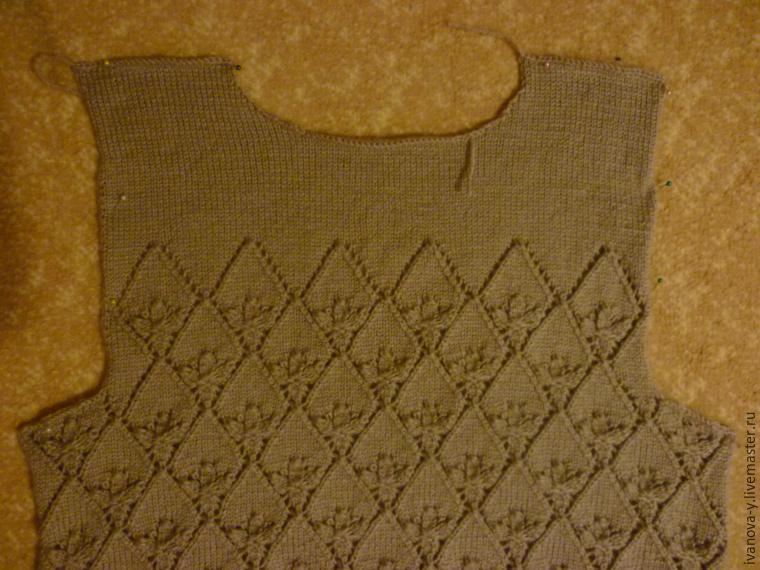 Вязание жилет мужской размер 54 56