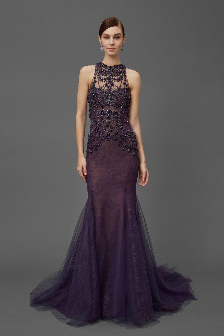 floor-length dress