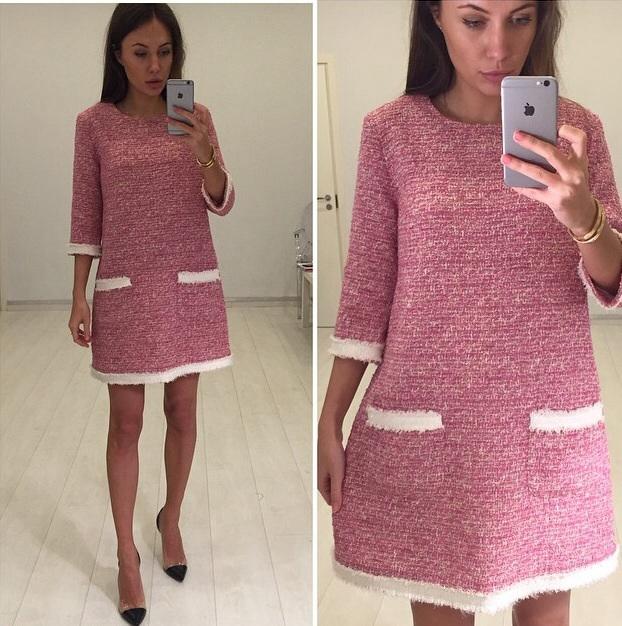 Сшить платье из ткани шанель 36