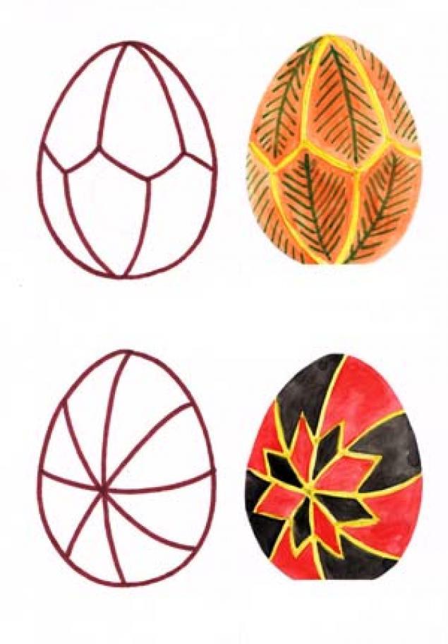 название пасхальных яиц и