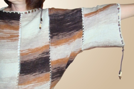 Вяжем свитер «летучая мышь» из меланжевой пряжи, фото № 6