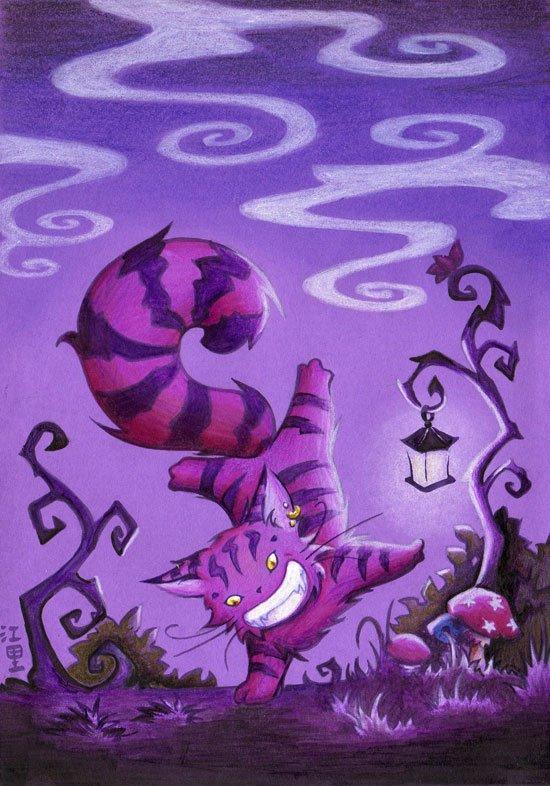 Пор любовь, чеширский кот открытка с днем рождения