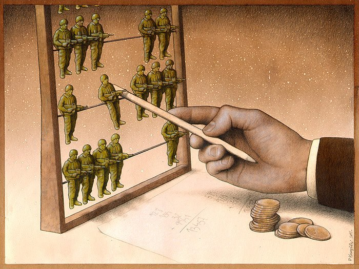 Карикатуры Павла Кучински, посвященные экономике и политике