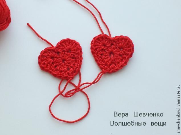 МК Вяжем сердечко - брелок (много фото), фото № 14