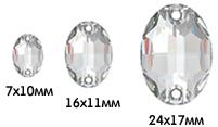 размеры Oval Sew-onSwarovski 3210