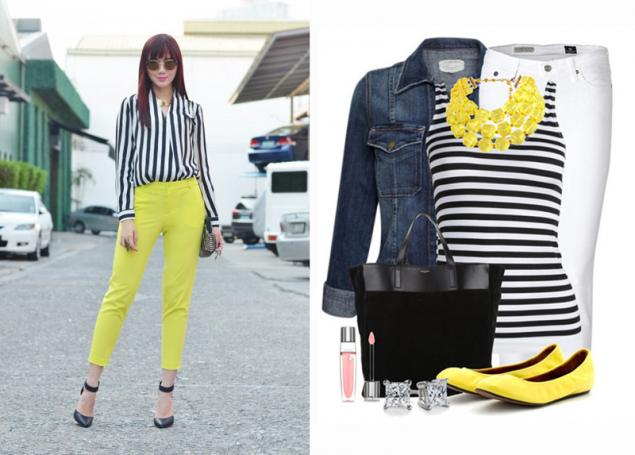 мода, черно-белый в одежде, контрастные цвета
