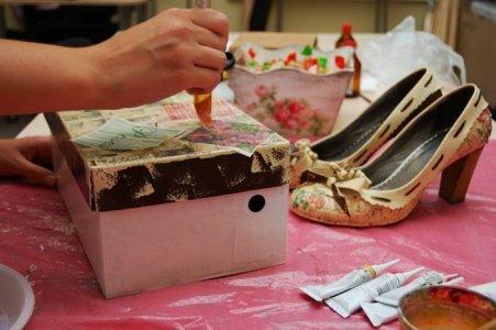Мастер-класс по декупажу обуви
