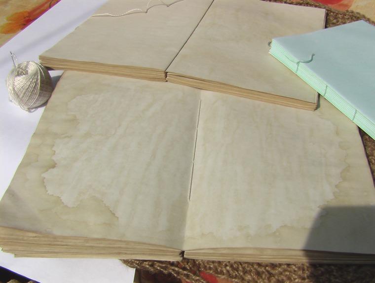 блокноты, бумага окрашенная, тонирование