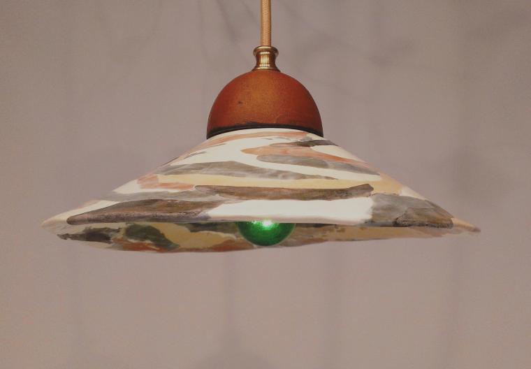 керамическая елочка, светильник из глины, светильник для ресторана, не обычный светильник