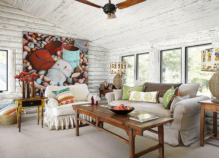 Как создать стиль в бревенчатом доме