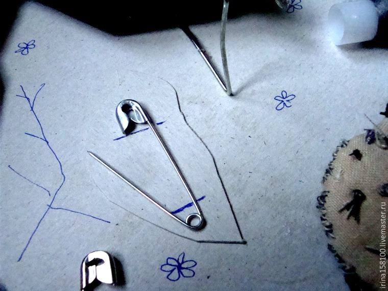 Вышиваем с бисером брошь «Воробушек», фото № 11