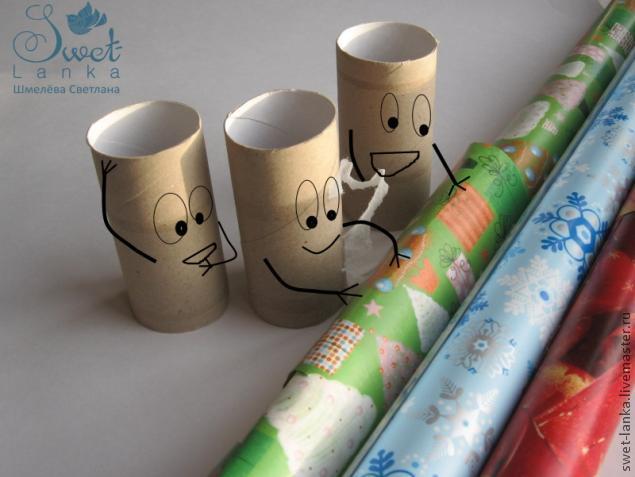 ПарЕлочные игрушки конфета своими руками