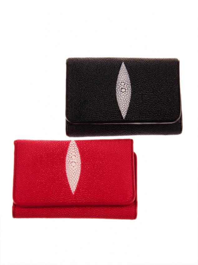 кошелек из ската, портмоне из ската, портмоне муское из ската